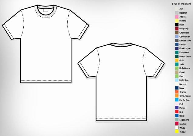 Men's Basic T Shirt Template