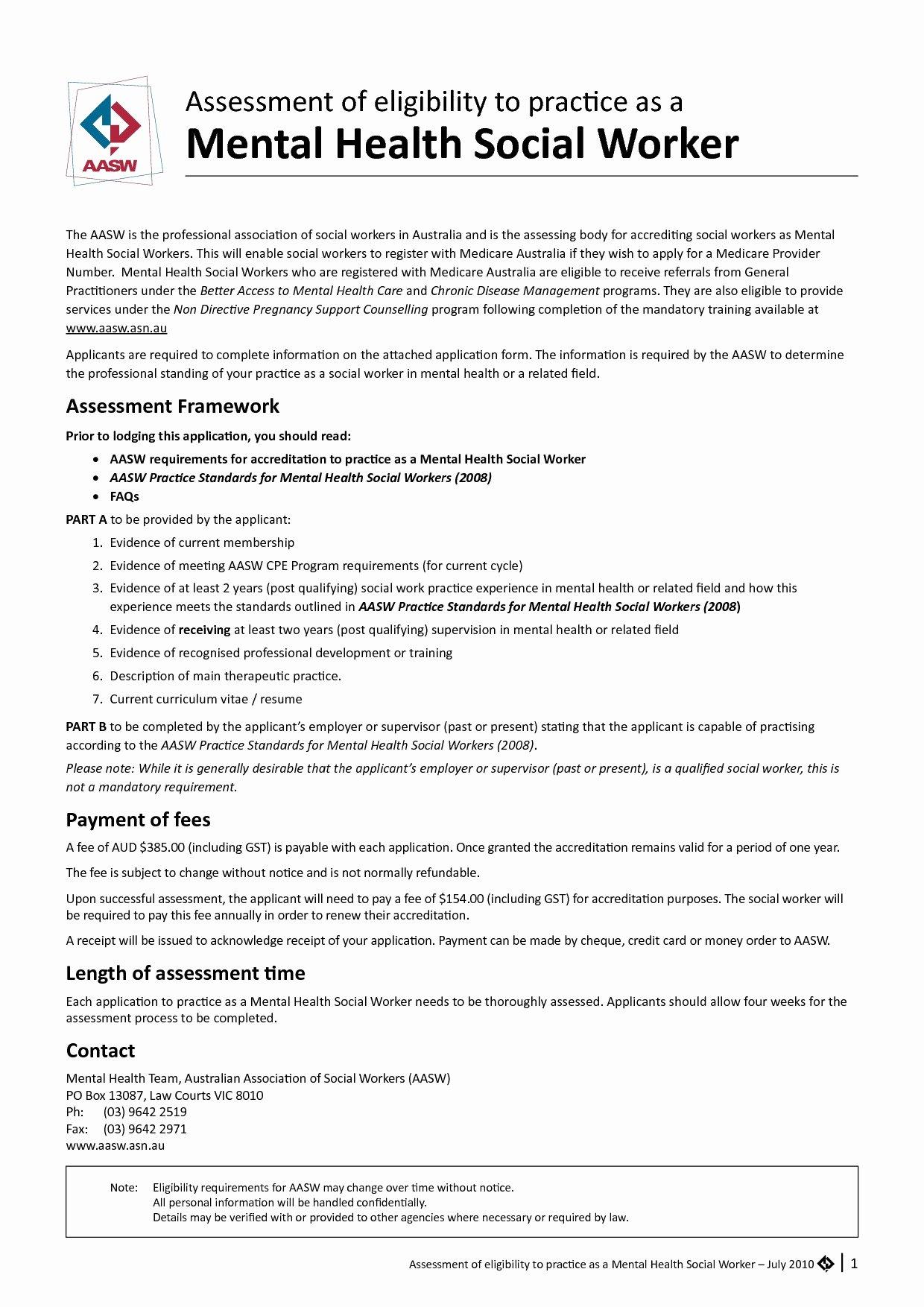 Mental Health Worker Resume Cover Letter Mental Health