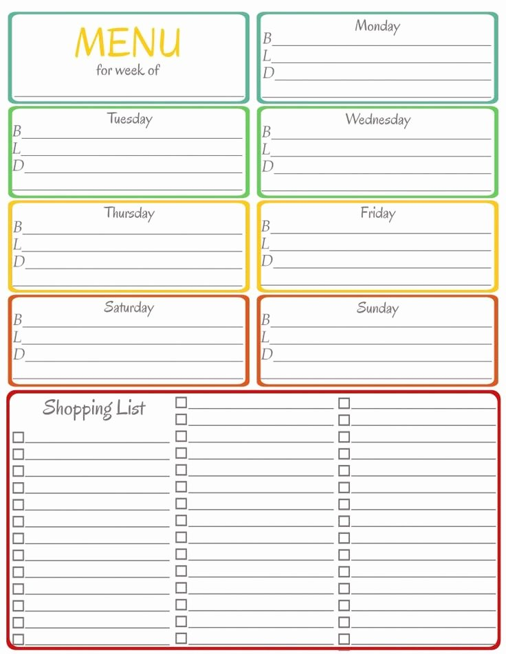 Menu Planner Printable Let Each Kid Pick A Meal for