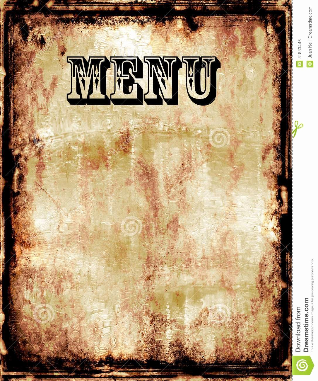 Menu Stock Illustration Illustration Of List Dirty