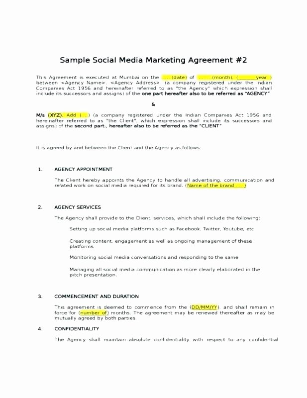 Merchant Marketing Agreement Services Contract Template