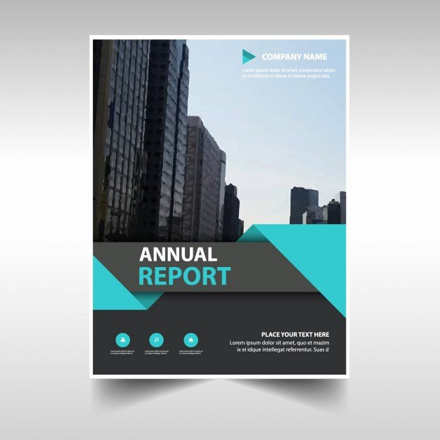 Mercial Annual Report Template Vector
