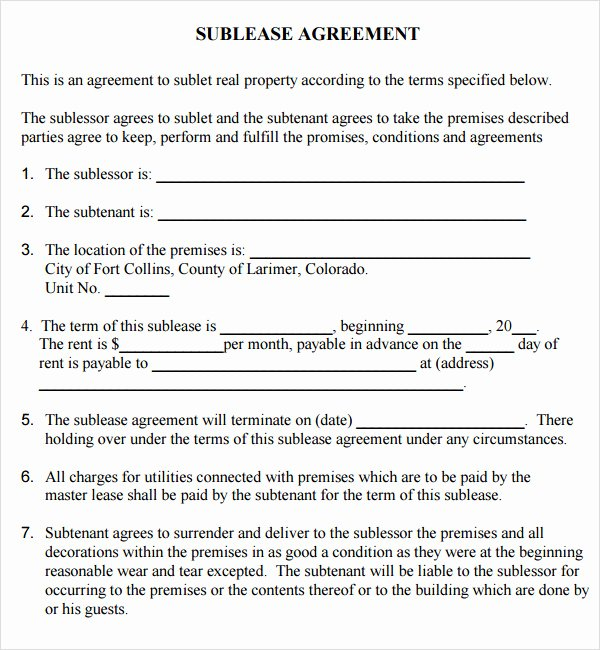 Mercial Lease Agreement 7 Free Download for Pdf