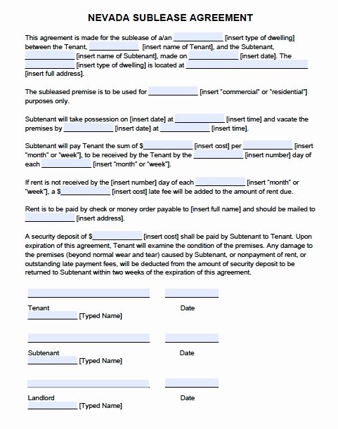 Mercial Lease Agreement Template Word
