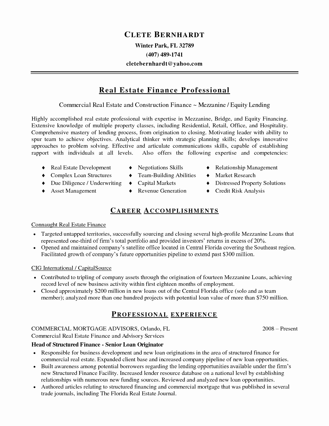 Mercial Real Estate Broker Resume Sample Bongdaao