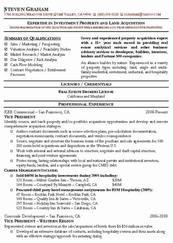 Mercial Real Estate Broker Resume source
