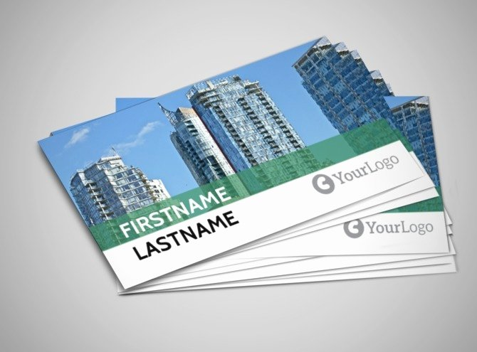 Mercial Real Estate Business Card Template