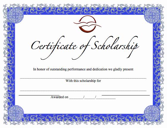 Merit Award Certificate Template