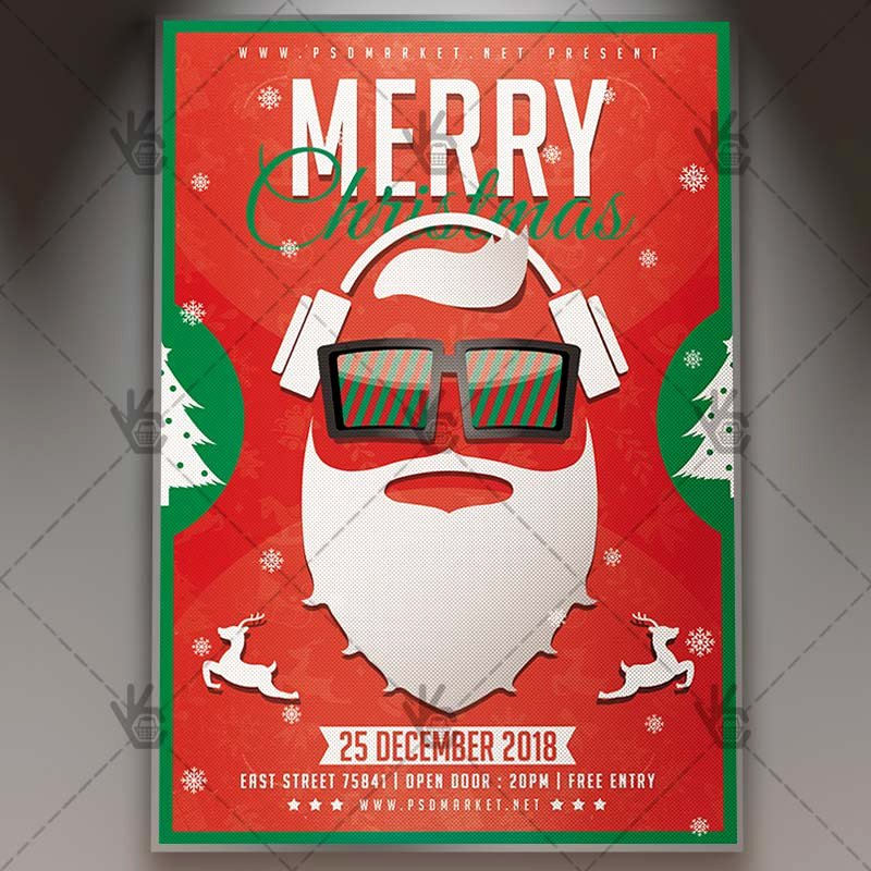 Merry Christmas Party Winter Flyer Psd Template