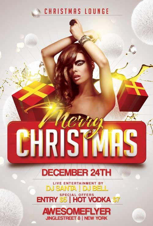 Merry Xmas Free Flyer Template Download for Shop