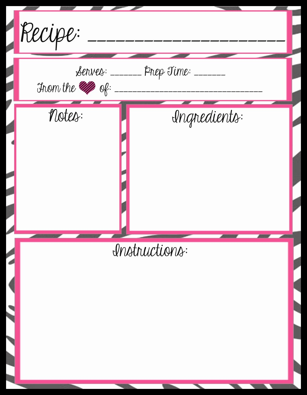 Mesa S Place Full Page Recipe Templates [free Printables]