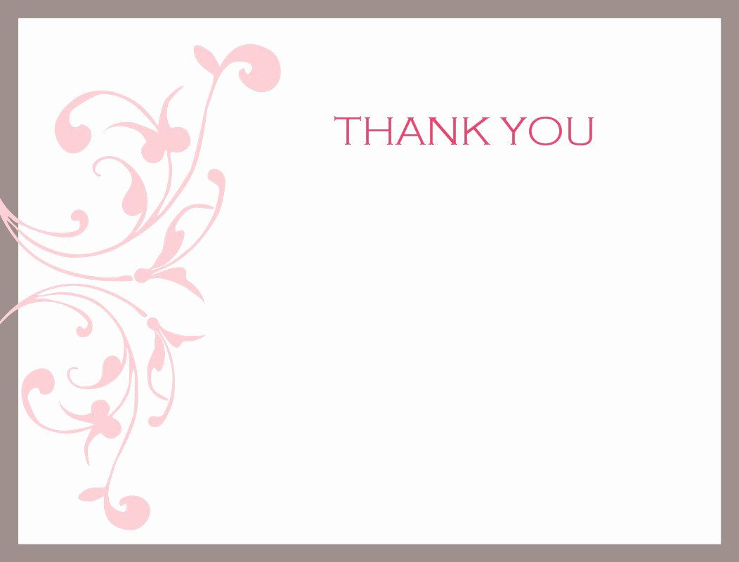 Mesmerizing Ideas Wedding Thank You Card Template Sample