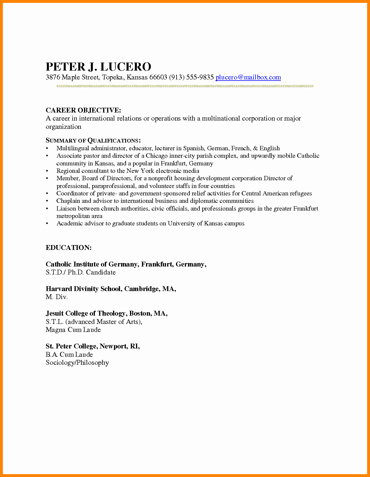 Mesmerizing Resume Examples for Teachers Changing Careers