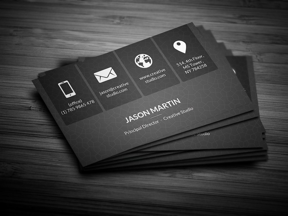 Metro Dark Corporate Business Card Business Card