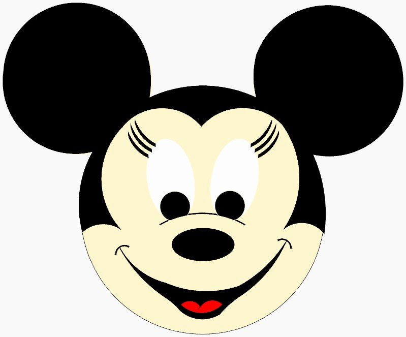 Mickey Mouse Face Template Cliparts