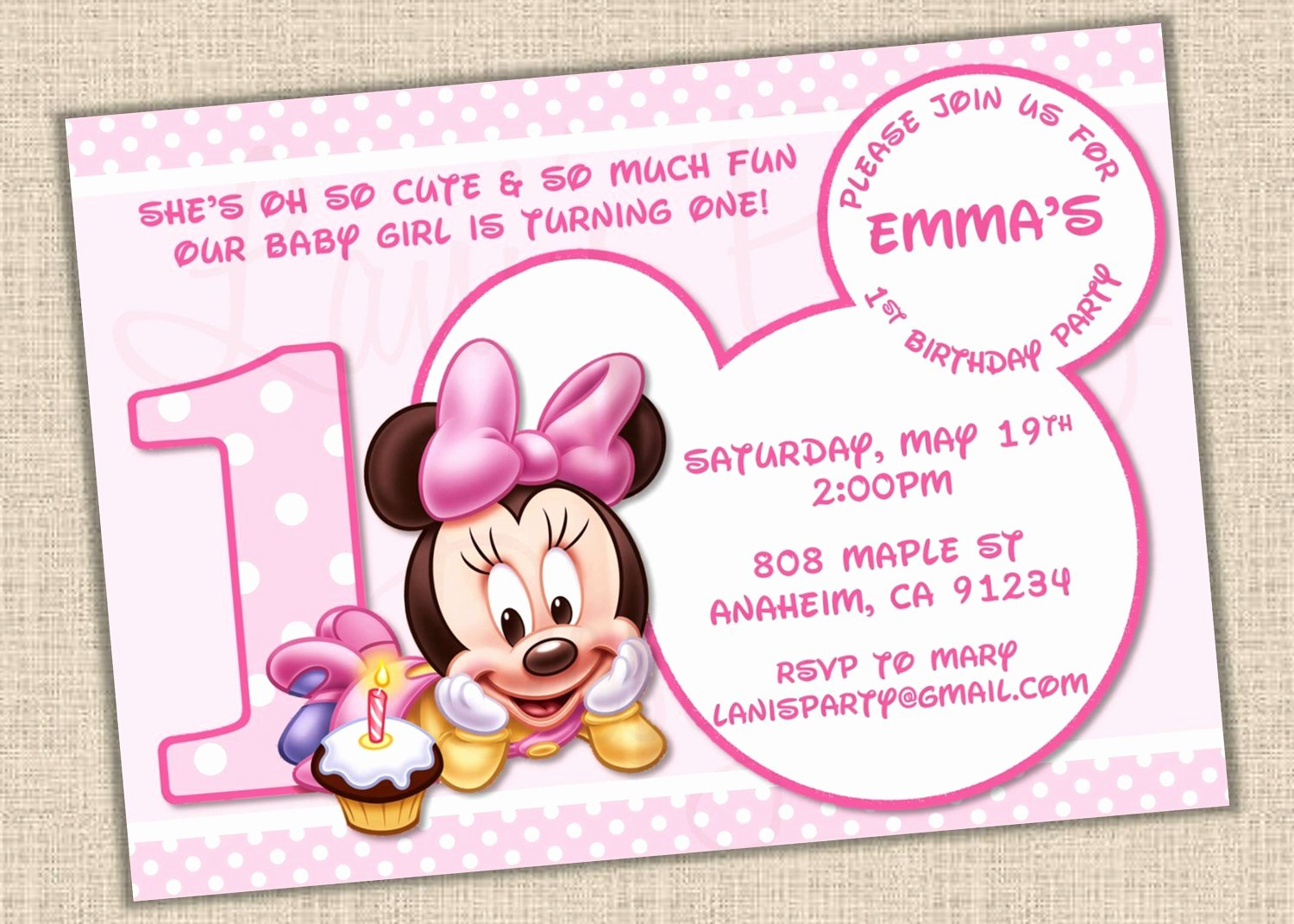 Mickey Mouse First Birthday Invitations Templates