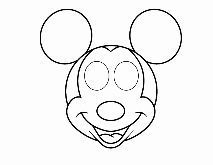 Mickey Mouse Mask Printable Free