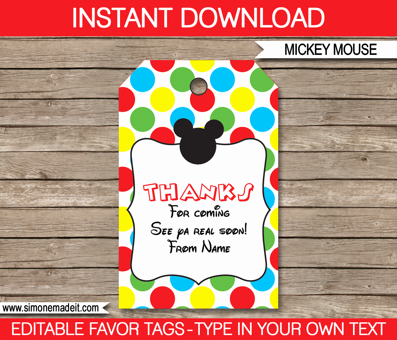 Mickey Mouse Party Printables Invitations & Decorations