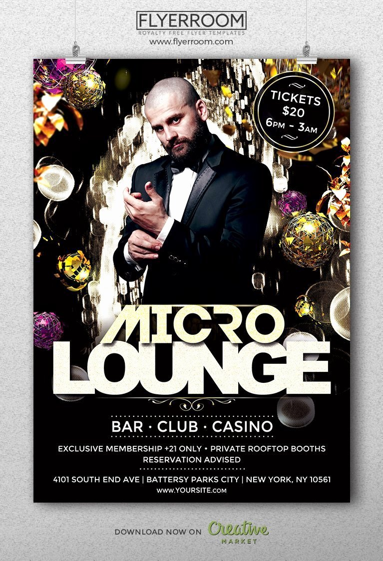 Micro Lounge Club Flyer Templ Download Music Club Flyer
