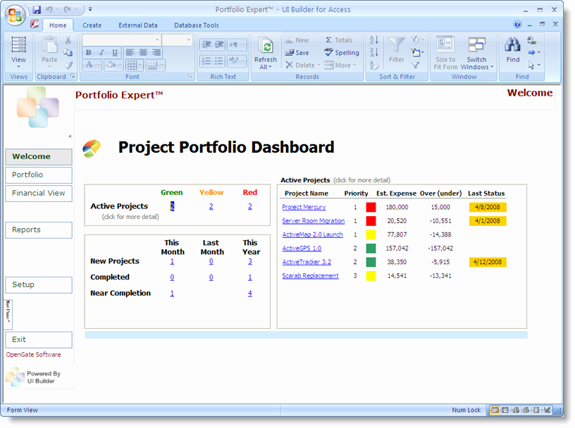 Microsoft Access Project Management Template Microsoft