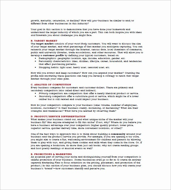 Microsoft Business Plan Template 17 Free Example