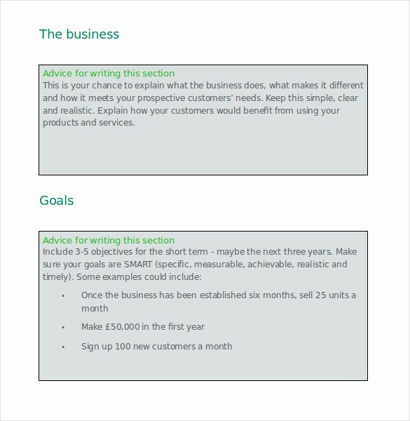 Microsoft Business Plan Template Free