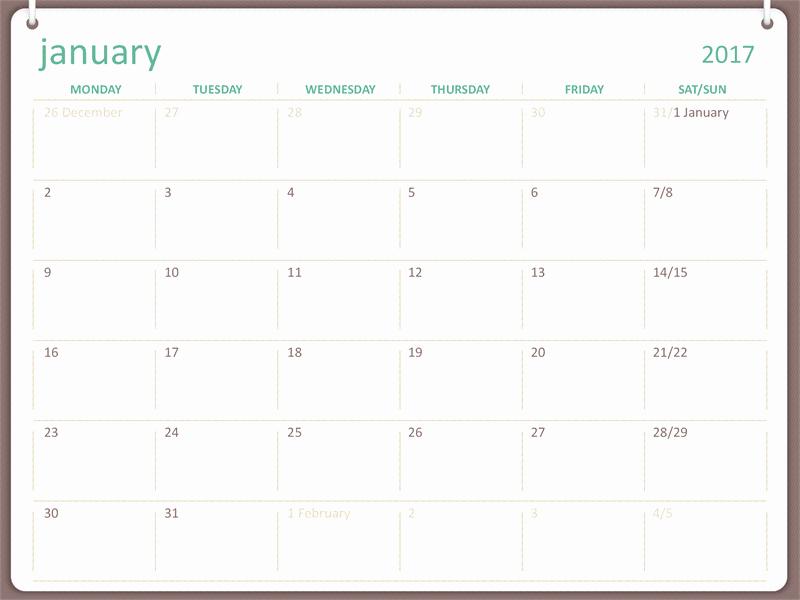 Microsoft Calendar Templates 2017 Calendar Template 2018