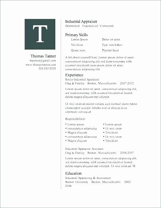 Microsoft Fice 2007 Resume Templates