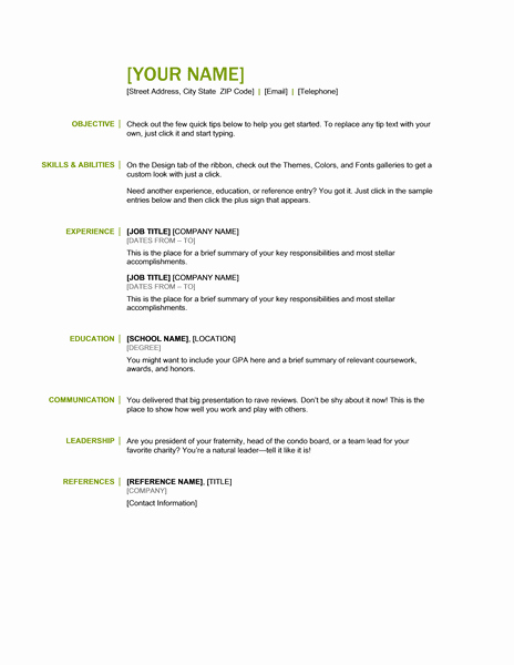 Microsoft Fice 365 Sample Resume Templates June 2013