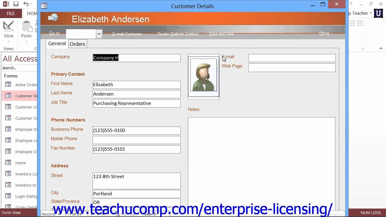 Microsoft Fice Access Tutorial 2013 Databases 1 3