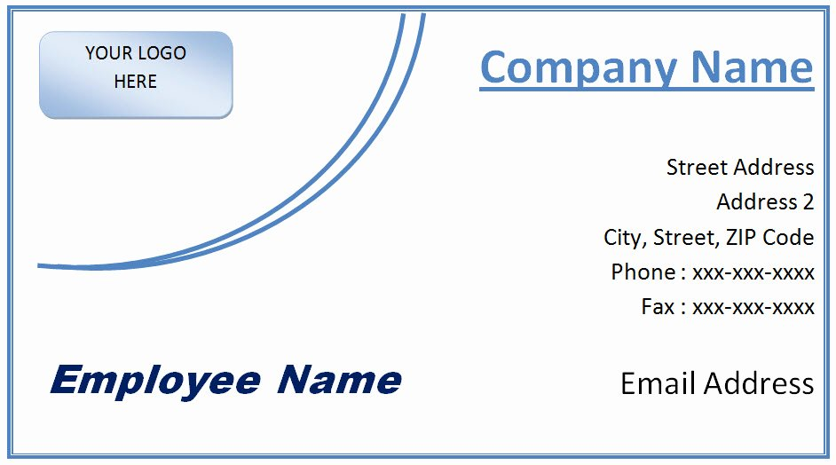 Microsoft Fice Business Card Template Free Word and