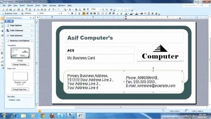 Microsoft Fice Business Card Template