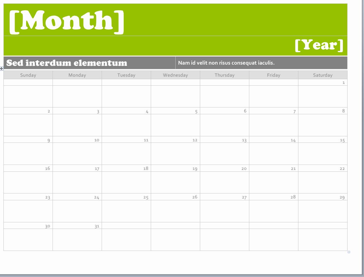 Microsoft Fice Calendar Template 2018 Templates Station
