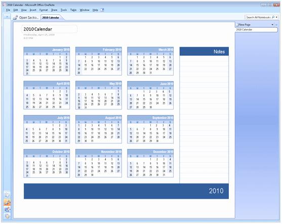 Microsoft Fice Calendar Template