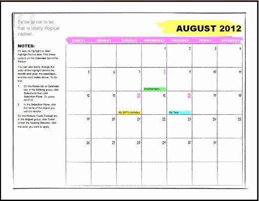 Microsoft Fice Calendar Templates