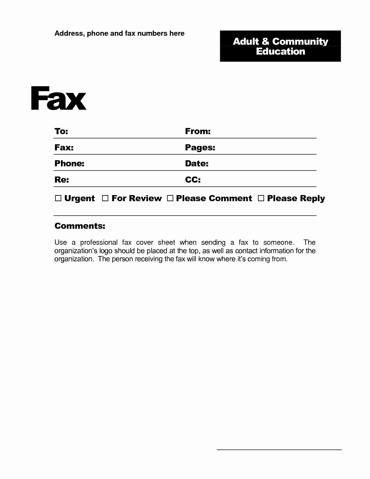 Microsoft Fice Fax Template Portablegasgrillweber