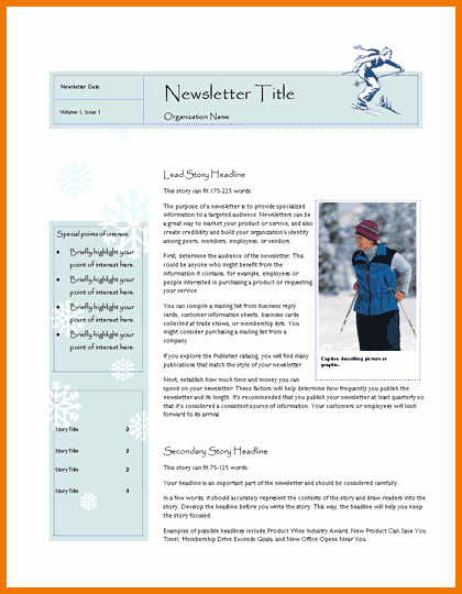 Microsoft Fice Newsletter Templates Template