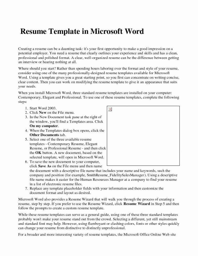 Microsoft Fice Resume Templates 2014