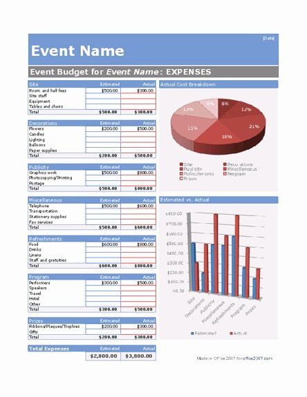 Microsoft Fice S Free event Planning Template