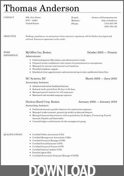 Microsoft Fice Templates Resume