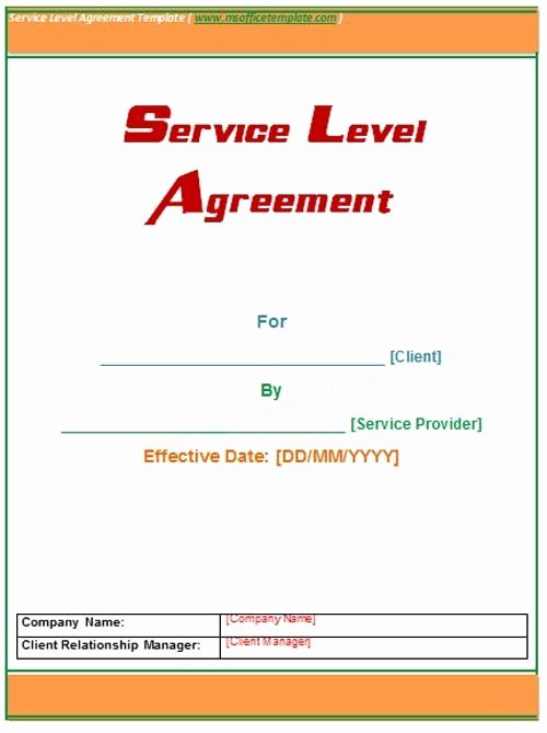 Microsoft Fice Templatesservice Level Agreement Template