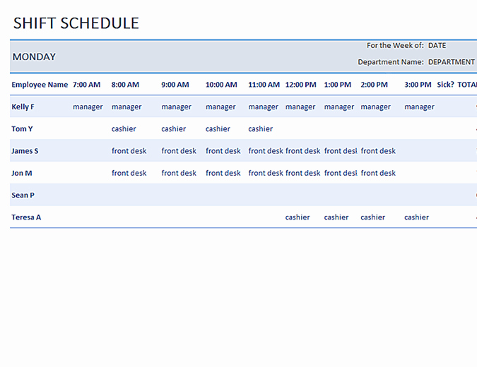 Microsoft Fice Work Schedule Template Salonbeautyform