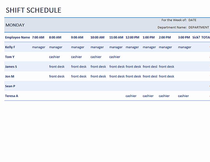 Microsoft Fice Work Schedule Template Salonbeautyform