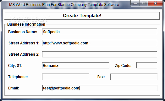 Microsoft Office Business Plan Template