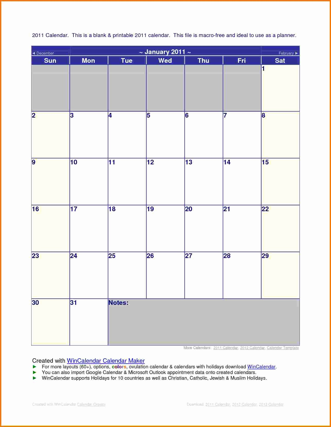Microsoft Office Calendar Templates