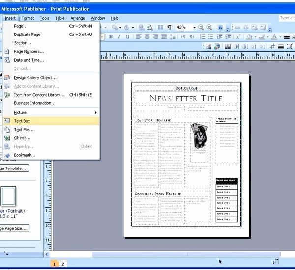Microsoft Office Newspaper Template Microsoft Publisher