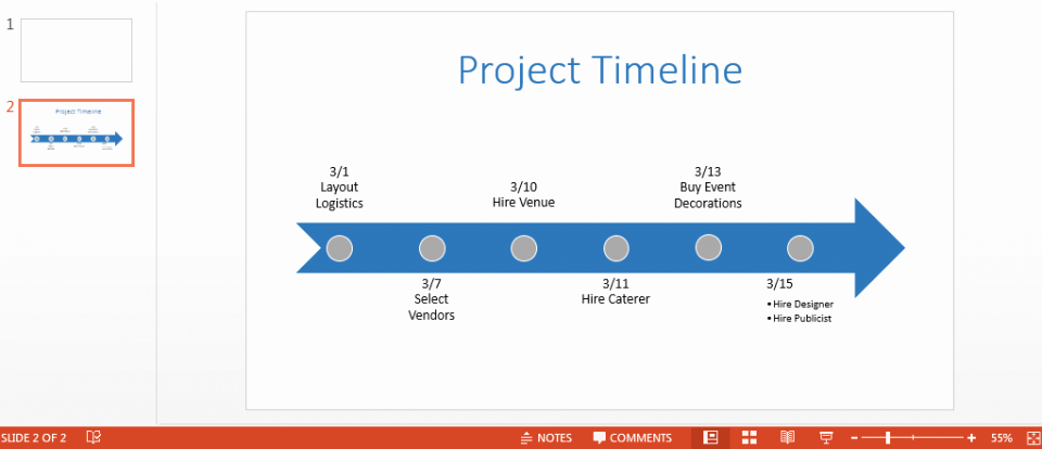 Microsoft Office Timeline Template Free Powerpoint