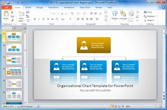 Microsoft Powerpoint org Chart Template Briskifo