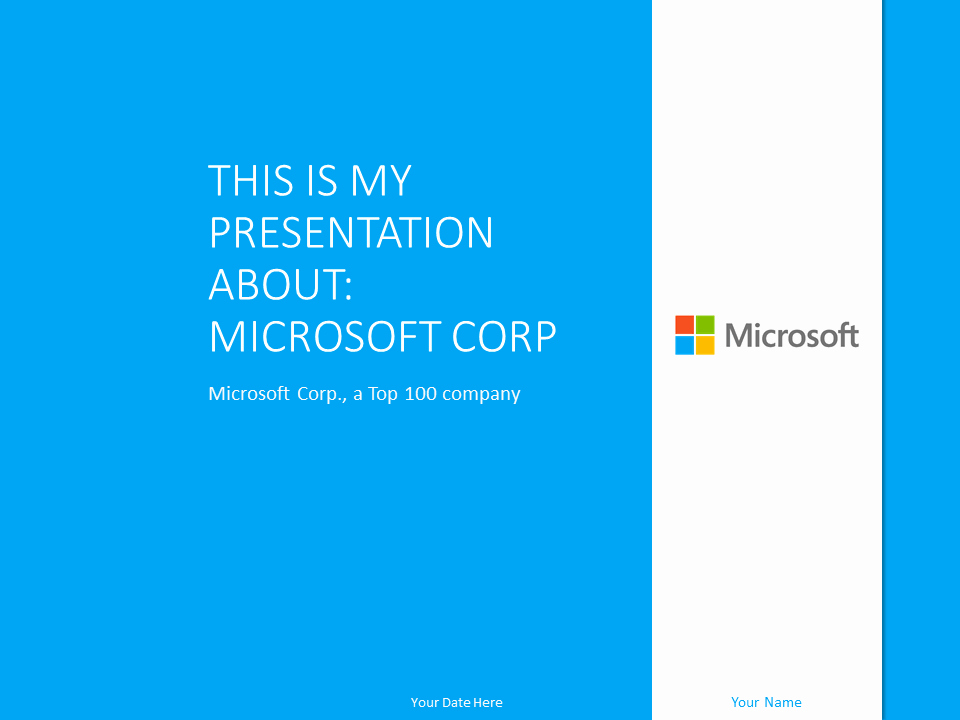 Microsoft Powerpoint Template Blue Presentationgo