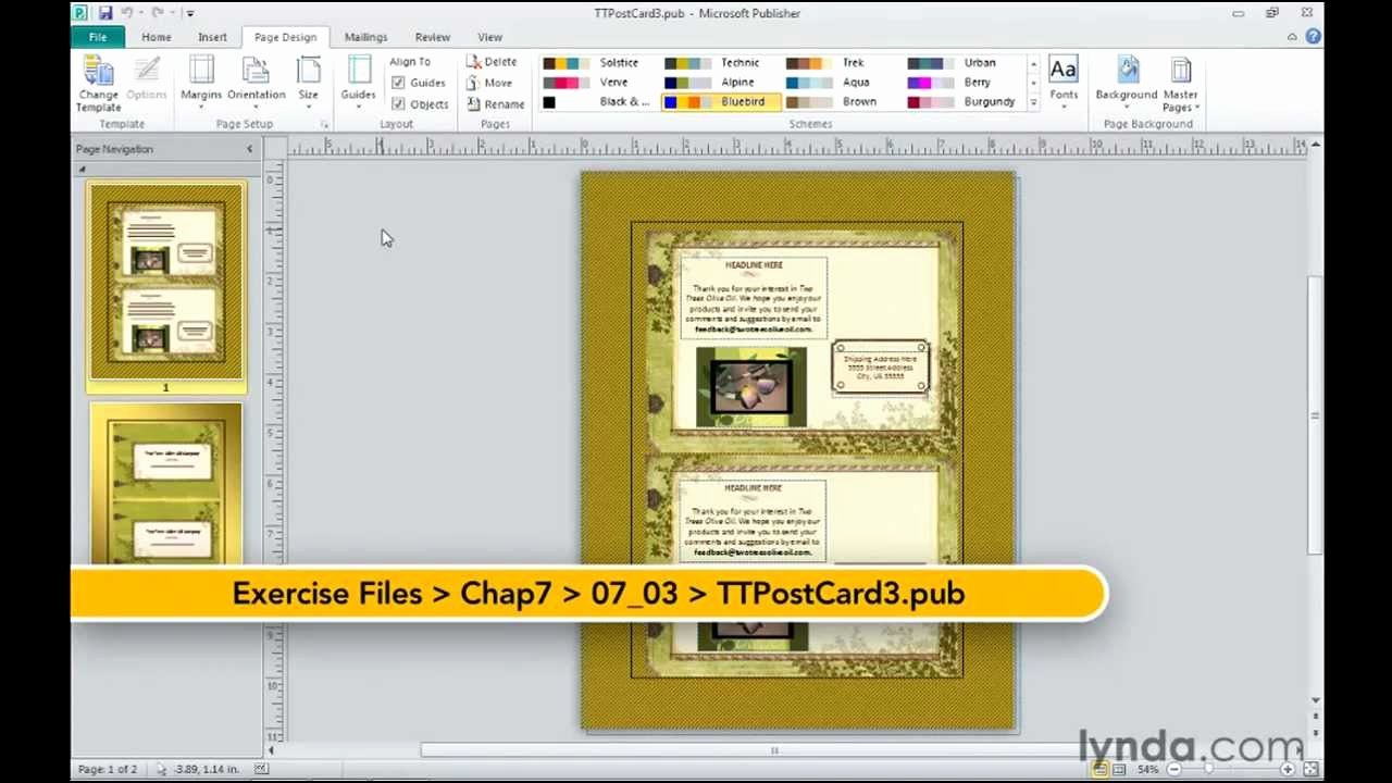 Microsoft Publisher How to Change Templates